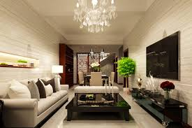 Living Room Creative Living Room Gray Sofa Gray Benches White Chandeliers White