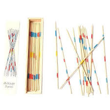 Game With Wooden Sticks TRADITIONAL MIKADO Spiel Wooden Pick Up Sticks Set Traditional 53