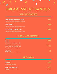 Breakfast Menu Template New Customize 48 Breakfast Menu Templates Online Canva