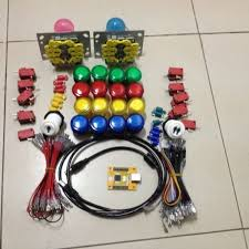 free delivery diy arcade game suit of led joystick chip joystick usb chip led joystick pc ps 3 2 in 1 usb driver 2 player malaysia