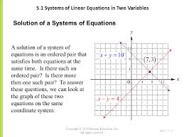 5 1 systems of linear equations in two variables