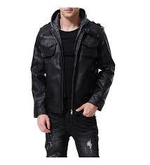 aowofs leather jacket motorcycle fashion