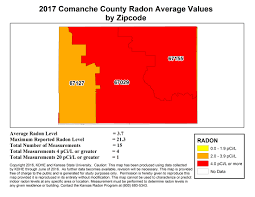Radon Level Chart County Map Kansas Radon Program