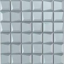 clear glass mosaic tiles