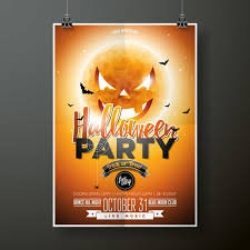 Halloween Dance Flyer Templates Halloween Flyer With Poster Cover Template Vector 01 Eps