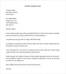 Job Offer Acceptance Letter Sample In India Lezincdc Com