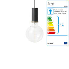 ferm living low socket pendant