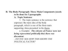 the six paragraph essay for unit assessment the main parts  7 ii