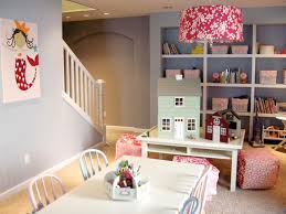 ... Exquisite Arrangement Interior For Cute Playroom Ideas : Contemporary  Rectangular White Wooden Table With Pink Fabric ...