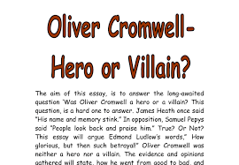 oliver cromwell hero or villain a level history marked by  document image preview