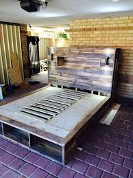 DIY Pallet Furniture Ideas - DIY Pallet Bed with Headboard and Lights -  Best Do It