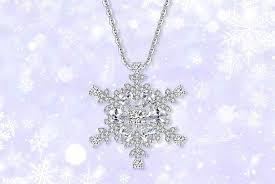 your ideal gift snowflake necklace made with