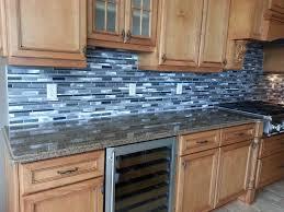 good blue glass tile backsplash