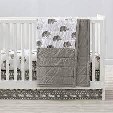 Wild Excursion Elephant Crib Bedding   The Land of Nod &  Adamdwight.com