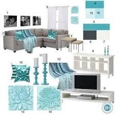 Mood Board: Gray & Aquamarine Living Room. Aqua Living RoomsLiving ...