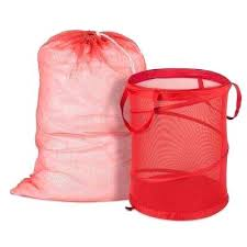 Pink Plastic Laundry Basket Enchanting Red Laundry Basket Mesh Laundry Bag And Hamper Kit In Red Red