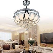 crystal chandelier ceiling fan. Luxury Modern Crystal Chandelier Ceiling Fan Lamp Folding