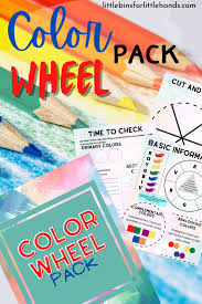 Color wheel is like a color grouping based on the primary colors, secondary colors, and tertiary color. Printable Color Wheel Activity Little Bins For Little Hands