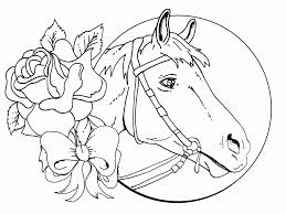 Coloring Pages Printable Realistic Horse Coloring Pages Free