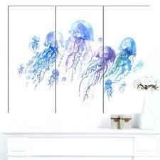 jellyfish wall art purple jellyfish animal wall art print neon jellyfish wall art