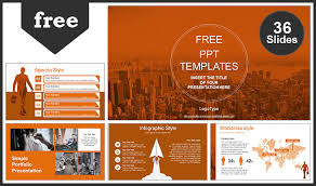 Ppt Business Template City Of Business Man Powerpoint Template