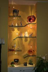 custom floating glass shelves for any space