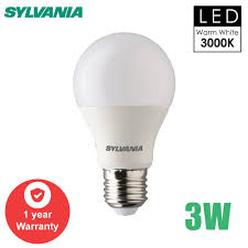 Sylvania Basic Plus Led A Bulb Energy Saving Warm White 3000k
