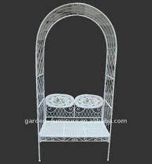 white iron garden furniture. White Painted Foldable Iron Garden Furniture Arbor For Climbing Plants Double Seats Metal Bench
