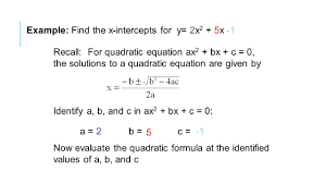 find the x intercepts 8 example