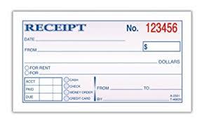 receipt blank amazon com adams money and rent receipt 2 3 4 x 5 3 8 inches 2