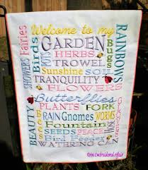 Small Picture Garden Flag word design