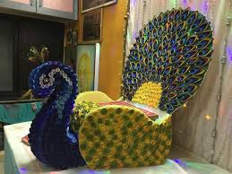 go for this cute colourful janmashtami decoration use cr pe paper
