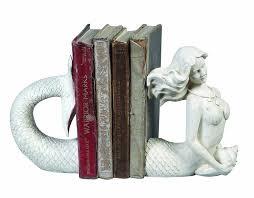 Creative Co-Op Cream Resin Mermaid Bookends