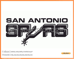 Spurs Embroidery Design San Antonio Spurs 1976 77 1988 89 National Basketball Association Basketball Sports Embroidery Logo In 4 Sizes Spln003786