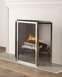 tulun fireplace screen silver interlude