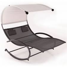 rocker patio chairs. belleze double chaise rocker patio furniture chair canopy pool swing steel, gray chairs n