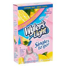 Wyler S Light Strawberry Lemonade Ingredients Wylers Light Pink Lemonade Low Calorie Drink Mix 1 36 Oz