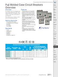 Mccb Fuji Bw Series 500a Manualzz Com