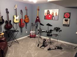 Music room decorating ideas with grey wall paint color ideas
