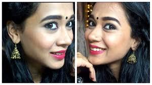 indian makeup tutorial festive makeup kohl eye makeup