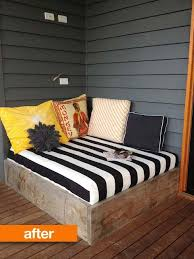 or an outdoor reading nook from reclaimed wood and a mattress 22 easy and fun diy outdoor furniture ideas