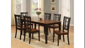 Vintage Dining Room with Wooden Rectangular Table Set Under 200 6 Pieces  Wooden High Back