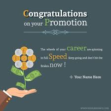 Congrats On Your Promotion Write Name On Congratulations On Your Promotion Greeting Picture