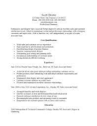 Retail Sales Associate Resume Objective Socialum Co