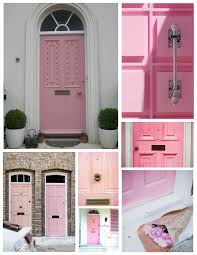 exterior house doors. Pastel Bliss: The Front Door Layered In Soft Hues Of Pink Exterior House Doors