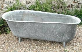 century zinc tub via classified vintage galvanized bathtub for bathroom sinks galvanized bathtub