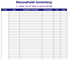 format of inventory free printable household inventory and stock inventory sheet