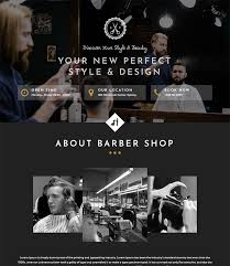Barber Shop Website Barbershop And Hair Salon Html Webtemplate Free