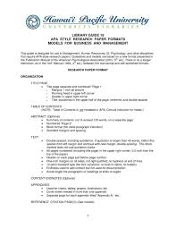 Table Of Contents Apa Dissertation Table Of Contents Apa Example Thesis And