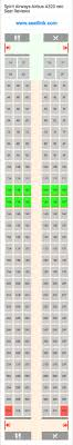 Airbus A320neo Seating Chart Spirit Airways Airbus A320 Neo 320 Seat Map United